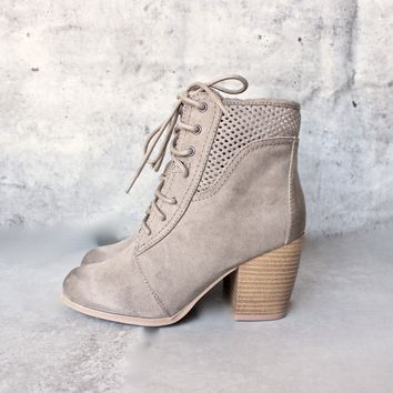 point the way perforated ankle boots