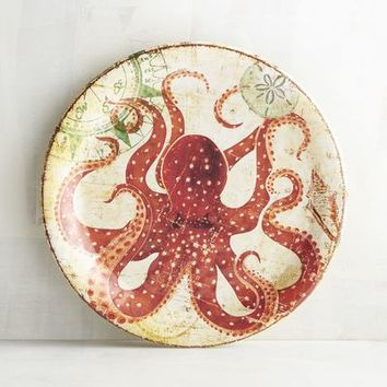 Otto the Octopus Melamine Salad Plate