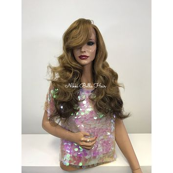 Blonde to Brown Ombre SWISS Lace Front Wig - Hopeful  121757