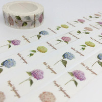 Hydrangea tape 10M Hydrangea washi tape colorful flower gardening flower deco tape flower sticker tape scrapbook diary life planner gift