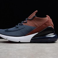 NIKE AIR MAX 270 BLUE BROWN MEN WOMEN SNEAKER AO1023-004