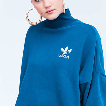 adidas Originals Tech Steel Mock Neck Pullover Sweatshirt - Urban Outfitters