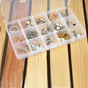 Super Deal  Elegant Tray 15 Slot Case Jewelry Rings Display Box Jewelry Storage XT