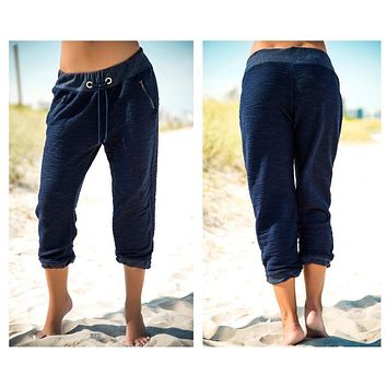 Mapale 1885 Faux Drawstring Pants  Color Navy