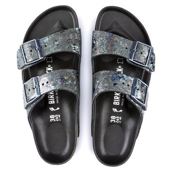 Birkenstock Arizona Lux Leather - Spotted Metallic Black