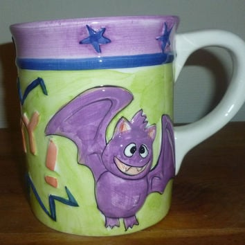 Giant Halloween Batty Bat Coffee Mug