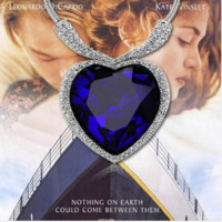 Titanic heart the ocean Crystal pendant necklace Austrian Crystal