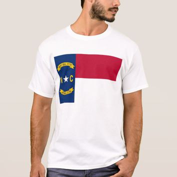 T Shirt with Flag of North Carolina State USA