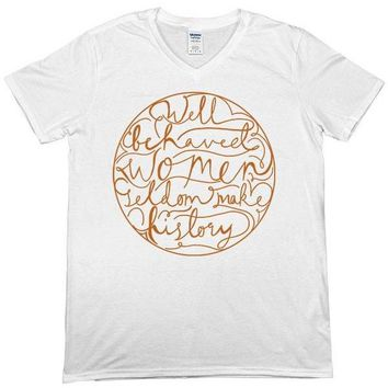 Well Behaved Women (Circle) -- Unisex T-Shirt