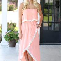 Peaches and Cream Hi Low Maxi