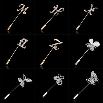 Rinhoo 2018 Large Vintage Female Pins and Brooches for Women Collar Lapel Pins Badge Flower Rhinestone Brooch Jewelry
