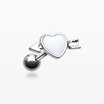 Cupid's Heart Cartilage Tragus Barbell