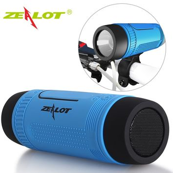 Bicycle Portable Subwoofer Bass Speakers Power Bank+LED light