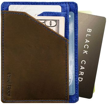 Card Blocr Best Minimalist Wallet | Slim Front Pocket Design | RFID Blocking Travel Wallet