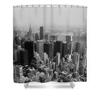 New York City Black and White Shower Curtain for Sale by Debra Forand