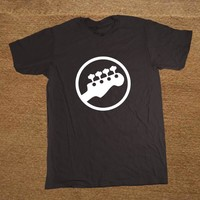 Bass Headstock Guitar Symbol Guitarist Player Musicians Logo Music Rock Funny T Shirt Tshirt Men Cotton Short Sleeve T-shirt