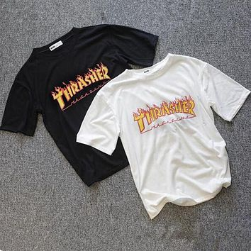FREE SHIPPING Fashion Thrasher Print Cotton T-Shirt Tee Top