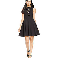 Polo Ralph Lauren Fit-and-Flare Cotton Dress - Polo Black