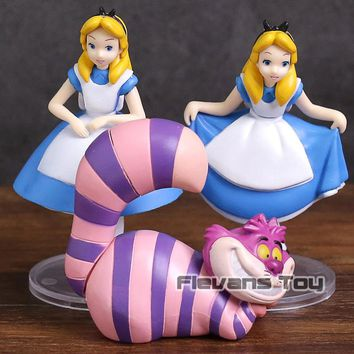 Ultra Detail Figure Alice in Wonderland Alice & Cheshire Cat PVC Figures Collectible Model Toys Dolls 3-pack