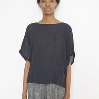 Black Crane Crape Box Top | Bird Brooklyn