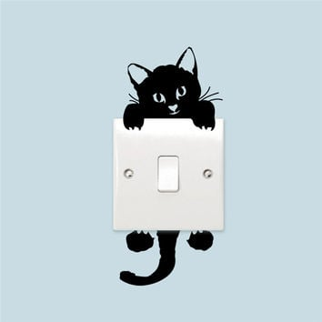 Funny Cat Switch Stickers