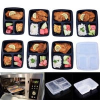 10Pcs/set Disposable Microwave Food Storage Safe Meal Prep Containers W/Lips- Free shipping