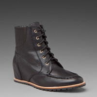 MATIKO Jonnie Hidden Wedge Boot in Black at Revolve Clothing