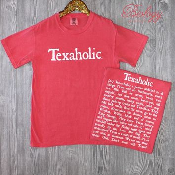 Texaholic Tee in Crunchberry