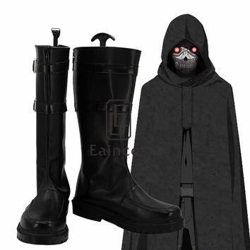 Anime Sword Art Online Death Gun Black Boots Cosplay Halloween Party Shoes Custom-made