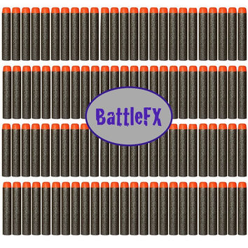 Nerf N-Strike Elite Compatible Darts / Bullets - STEALTH BLACK - Set of 100 - Closest to Nerf Brand