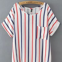 Striped Short Sleeve T-Shirt