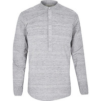 River Island MensGrey over head long sleeve shirt
