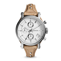 Original Boyfriend Chronograph Leather Watch - Bone