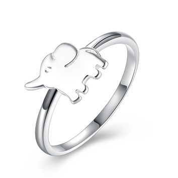 Elephant Ring 925 Sterling Silver