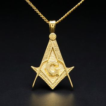 Royal Compass & Square Masonic Necklace
