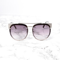 South Bay Sunglasses - Silver/Black