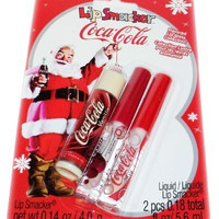 Lip Smacker Santa Clause Coca Cola Flavored Lip Balm Gloss 3 Pack Gift Set Collection