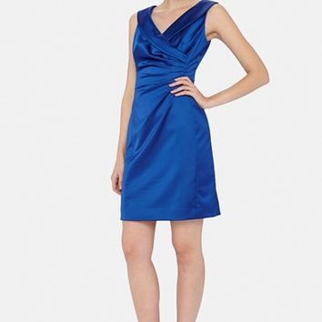 Petite Women's Tahari Portrait Collar Sheath Dress,