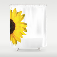 yellow & white summer Shower Curtain by Steffi ~ FindsFUNDSTUECKE