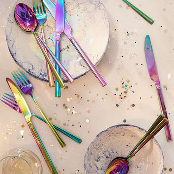 12-Piece Electroplated Flatware Set - Urban Outfitters