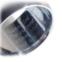 Machine Engraving - Ring, Pendant or Other item