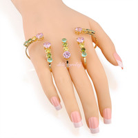 New arrival palm bracelet colorful zircon hand cuff woman palm cuff fashion Xmas gift Jewelry R220