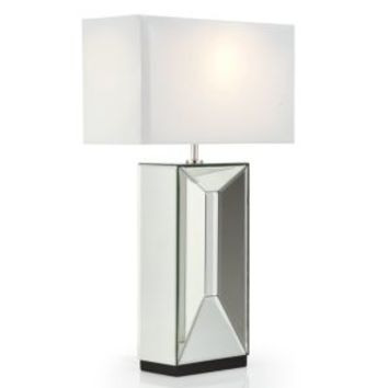 Axis Mirrored Table Lamp | Live In Color Bedroom1 | Bedroom | Inspiration | Z Gallerie