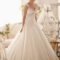 Mori Lee 2609 Beaded Tulle A-Line Wedding Dress