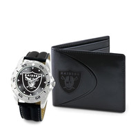 Oakland Raiders NFL Men's Watch & Wallet Set