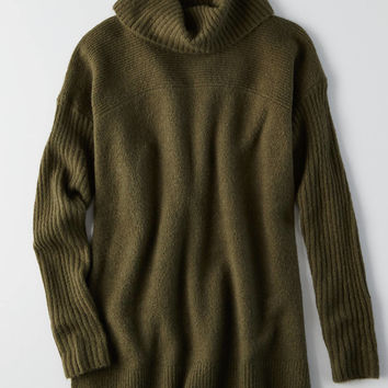 AEO Ahh-mazingly Soft Turtleneck Sweater, Gray