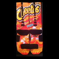 Cheetos Flaming Hot Parody Custom Nike Elite Socks