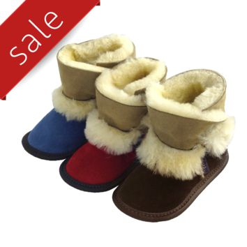 Children's Sheepskin Boot Slippers - 210