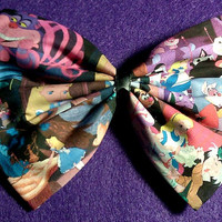 We're All Mad Here - Alice in Wonderland Hair Bow