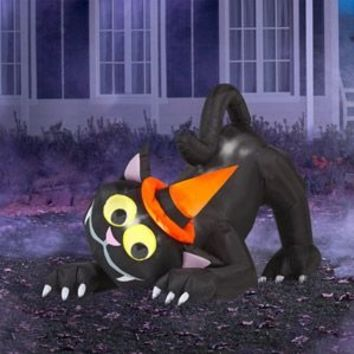 SheilaShrubs.com: Airblown Inflatable Animated Black Cat 2944 by Gemmy: Halloween